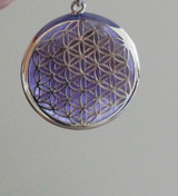 Flower of Life Pendant with Chevron Amethyst