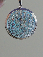 Flower of Life Pendant with Aqua Aura