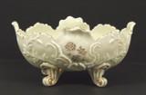Northwood Custard Glass Louis XV Pattern Master Berry Bowl