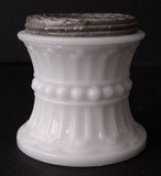 Beaded Belt Milk Glass Toothpick Holder