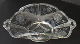 Beautifully Engraved Elegant Glass Serving Bowl