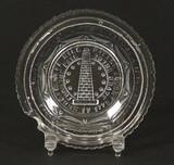 Bunker Hill Flint Glass Cup Plate Lee #645a