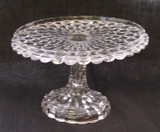 Cut Log Pattern Glass Pedestal Cake Stand