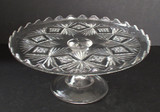 Sheaf & Diamonds Pedestal Cake Stand EAPG