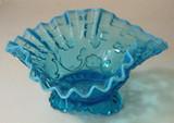 Flora Blue Opalescent Glass Bowl - Beaumont