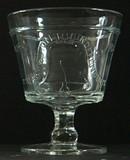 Liberty Bell Open Sugar Bowl - Buttermilk Goblet - Centennial Glass