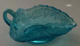 Sea Spray Blue Opalescent Glass Nappy