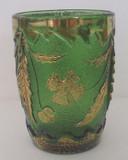 Delaware Pattern Glass Green Tumbler