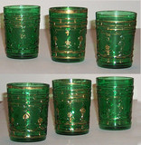 Diamonds & Clubs Green Tumblers Set of 6