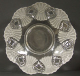 """Fagot or Vera 11"""" Frosted & Clear Glass EAPG Bowl"""