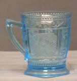 Willow Oak Blue Glass Mug EAPG