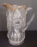 Bull's Eye and Fan EAPG Tankard Water Pitcher
