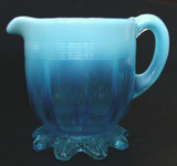 Davidson Glass Blue Pearline / Opalescent Creamer