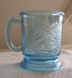 Dog & Quail Blue Children's Glass Mug
