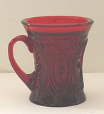 Dots in Ovals Ruby Red Children's Glass Mug