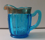 Dolly Madison / Jefferson #271  Blue EAPG Creamer