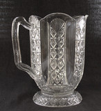 Hartley EAPG Glass Water Pitcher