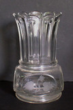 Nail Pattern Celery Vase w Etched Leaves