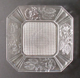 "Marsh Pink Pattern Glass 10"" Plate EAPG"