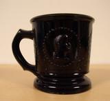 Ceres Medallion Cameo Black Glass Childrens Mug
