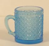 Cross Hatching Blue Children's Glass Mug