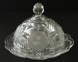 Frosted Circle EAPG Butter Dish