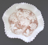 Grape and Cable Custard Glass Bowl  Northwood