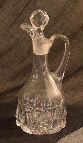 Thompson Glass Torpedo pattern cruet