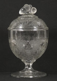 Boston & Sandwich Glass Co, Grape & Festoon sugar bowl