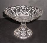Fostoria Glass Sunk Jewel Compote