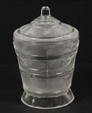 Wooden Pail or Oaken Bucket EAPG Sugar Bowl