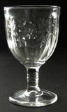 Paneled Apple Blossom EAPG Goblet