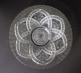 Flower Medallion EAPG serving plate
