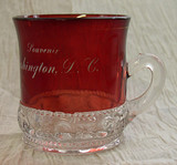 ruby stained glass mug