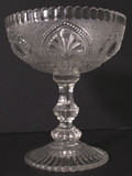 Lovely Ornate Victorian Glass Compote