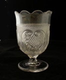 Princess Feather Pattern Glass Spooner - EAPG