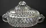 Amazon Oval Covered Dish w\ LION Handles & Finial