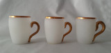 Antique Satin Finish Mugs - Set of 3