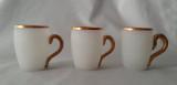 Antique Satin Finish Mugs - Set of 3