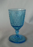 Fine Cut and Panel Blue EAPG Goblet #2