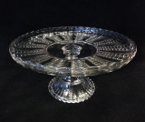 Fishscale Antique Glass Pedestal Cake Stand
