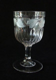 Frosted Leaf  Flint Glass Ladies Goblet
