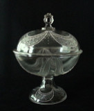 Garfield Drape EAPG Covered Compote