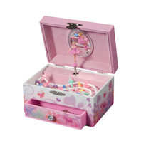 Ashley Girl's Musical Ballerina Fairy and Flowers Jewelry Box Plays Swan Lake