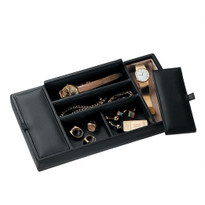 Leather valet is a great storage solution for men and women.