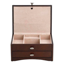 Trina Jewelry Box provides ample storage in a compact size.