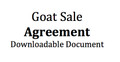 Goat Sale Agreement  (Down Load Immediately)