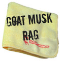 Goat Musk Rag, a micro-fiber towel infused with the scent of a billy goat in rut