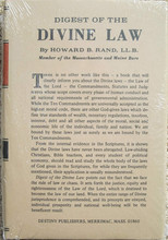 Digest of the Divine Law by Dr. Howard B. Rand, front cover