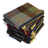 Harris Tweed Small Zipper Bag